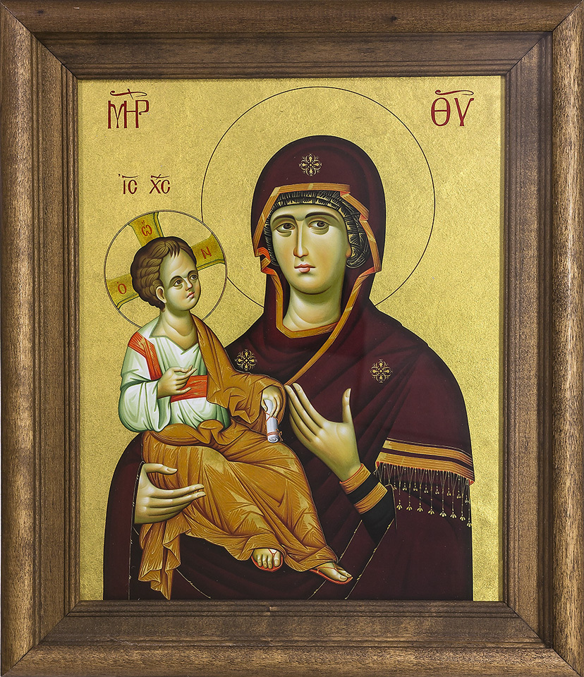 Silkscreen Byzantine Icon of the Mother of God